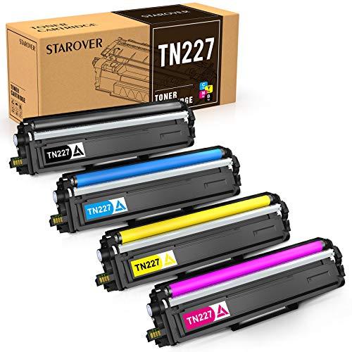 STAROVER Compatible Toner Cartridge Replacement for Brother TN227 TN 227 TN223 for HL-L3210CW HL-L3230CDW HL-L3270CDW HL-L3290CDW MFC-L3710CW MFC-L3750CDW MFC-L3770CDW (4 Pack)