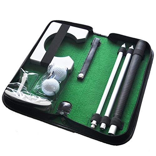 Set Golf para Casa y Oficina con Putter · Entrenamiento Golf con Palos de Golf Plegables, Hoyo, 2 Bolas y Bolsa de...