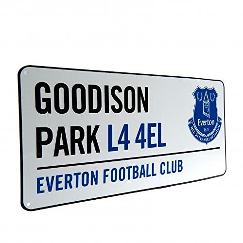 Gift Ideas - Official Everton FC Street Sign - A Great Present For Football Fans