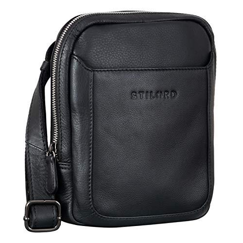 STILORD  Costa  Borsello Piccolo Uomo in Pelle Borsa Tracolla Piccola Vintage Messenger Bag per Tablet da 8,4 Pollici, Colore:nero