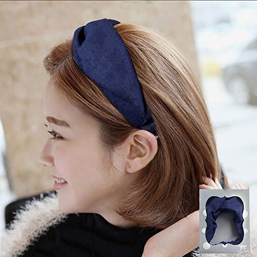 Het dragen van Zoete en schattige korte haar wassen tiara haarband