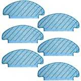 Almohadilla De Aspiradora Toallitas de Limpieza AD-6 Compatible con ecovacs DeeBot Ozmo T8 Piezas de aspiradora de la aspiradora Partidas de Tela Aspiradora Tela trapeador (Color : Blue)