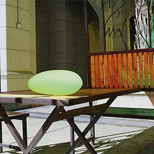 Dekorative Solarleuchte Maki Steinform 40x30x16cm Solarlampe Gartendekoration Solarkugel Solarstein Gartenleuchte (Stein)