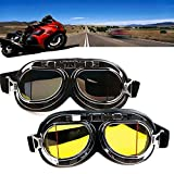 FUT(エフュ ト) ヴィンテージゴーグル 眼鏡の上から掛けれる セーフティゴーグル uvカット くもり止め オートバイゴーグル PCレンズ 多目的利用 保護メガネ パンクゴーグル