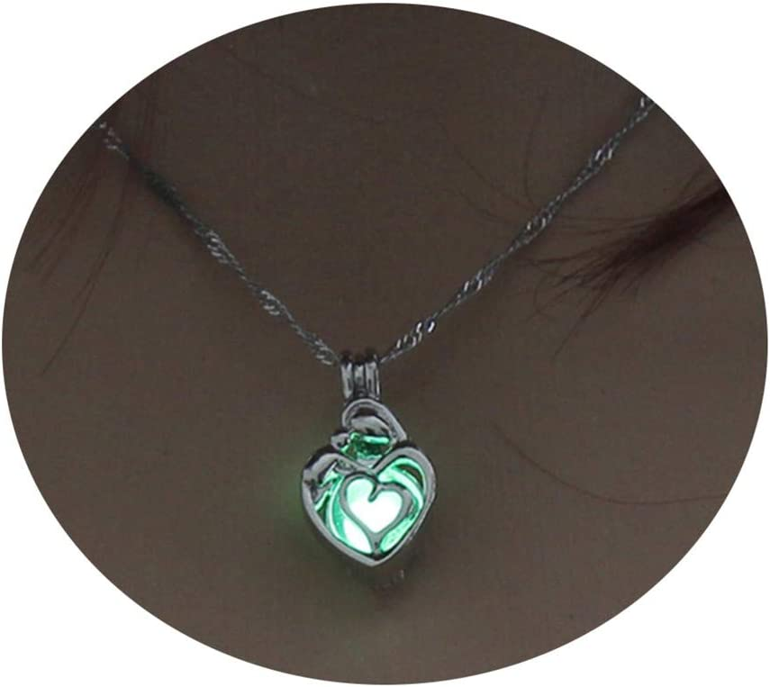 Huangyong Womens Pendant Necklace Glow Dark The Max 67% OFF Luminous Jewe San Francisco Mall in