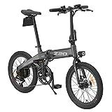 Z20 Bicicletas eléctricas para Adultos, Bicicletas eléctricas Plegables para Mujeres Hombres con batería de 250W 10Ah 36v Velocidad máxima 25 km/h Adecuado para Ciudad (Gris)
