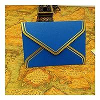 MAODING カードギフト封筒17.5 * 12.5センチメートル挨拶10個/ロットヴィンテージゴールド空白クラフト紙封筒ウェディングパーティー招待状封筒 (Color : 17.5X12.5cm blue)