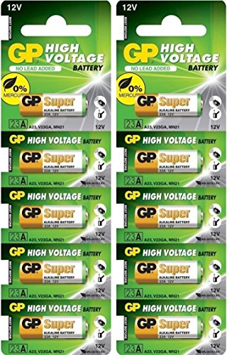 GP 23AE 12V Batteries (Pack of 10)
