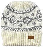 ムーンバット チャオラダンス ニット帽 幾何柄入りシャロット レディース オフホワイト 日本 高さ 約22㎝ 横幅 約19㎝ 折返し 約7㎝ FREE サイズ