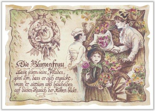 Die Staffelei Geschenk Blumenfrau Floristin Florist Zeichnung Color 30 x 21 cm