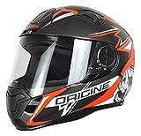 Origine Helmets Casco Moto, Nero/Rosso, Taglia S