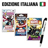 Fantàsia Marvel Champions LCG - Ms. Marvel + Capitan America + Goblin + Penna Italiano