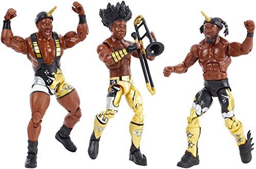 WWE FDX69 Elite Bootyos Juego de Figuras de acción de Lucha Libre, Paquete Triple en Caja de Cereales