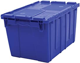 Retail Resource FP182-DTMQ-BLUE Blue Storage Totes with Hinged Lids