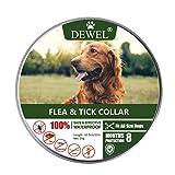 DEWEL Collar Antiparasitos para Perro,Gato Pequeño Mediano Grandes contra Pulgas, Garrapatas y Mosquitos, 8 Meses(para Perros)