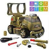 Dreamon Kit Smontabile per Bambini STEM 10 in 1 Giocattolo Veicoli Militari Giocattoli Edu...
