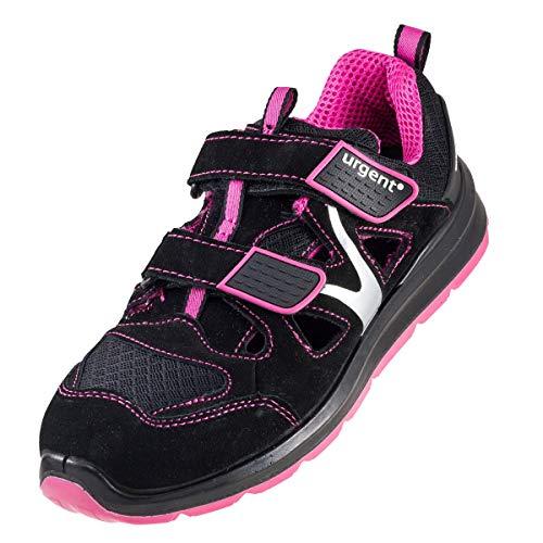 Sandale Damenarbeitsschuhe Urgent 307 S1 Sandale mit Stahlkappe Damensandale Halbschuhe Arbeitsschuhe Sicherheitsschuhe (39 EU)