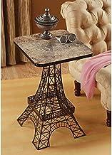 Design Toscano Tour Eiffel Sculptural Metal Side Table, Black,26 Inch