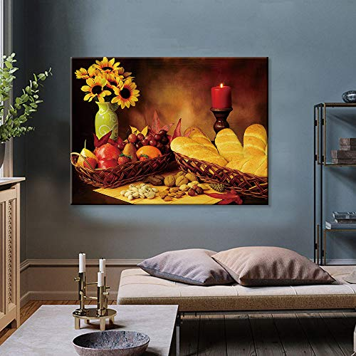Home decoration HD print living room canvas print canvas fruit poster,Frameless painting-30X40cm