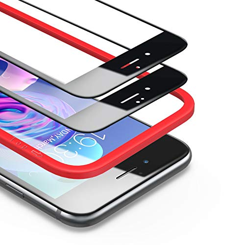 BANNIO [2 Pacco[Telaio di Installazione Incluso] Pellicola Protettiva per iPhone 6 / iPhone 6s,Pellicola Vetro Temperato Full Screen con Alta Trasparente,3D-Touch per iPhone 6 / iPhone 6s-Nero