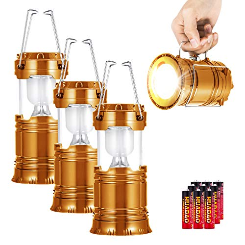 LED Camping Lantern,Super Bright Portable Survival Lanterns,Must Have During Hurricane,Emergency,Storms,Outages,Original Collapsible Camping Lights/Lamp (gold)