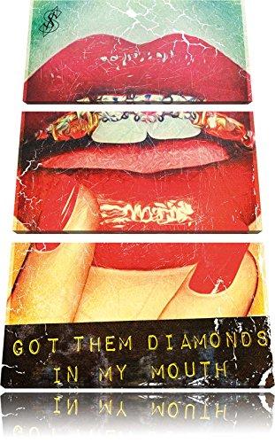 Got them Diamonds 3-Teiler Leinwandbild 120x80 Bild auf Leinwand, XXL riesige Bilder fertig gerahmt mit Keilrahmen, Kunstdruck auf Wandbild mit Rahmen, gänstiger als Gemälde oder Ölbild, kein Poster oder Plakat