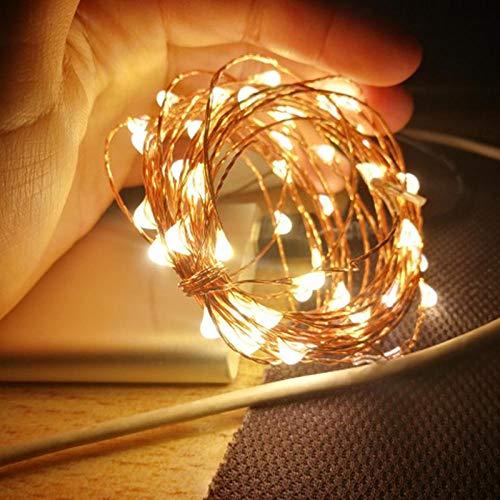 Led-lichtstrip, led, zilver, koperdraad, led, voor buiten, kerstboom, slinger, party, decoratie-groen, 5 m, 10 m