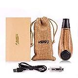 KAMRY Sigaretta Elettronica Tubo Mini Corpo Stile di Moda, 35W 1000mAh Ricaricabile Enorme Vapore Legno Classico E-pipe Con Pacchetto Regalo, Nicotina Libera (Giallo)