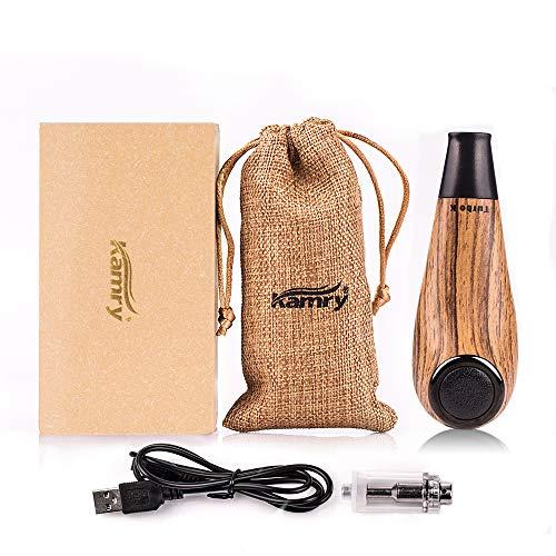 Kamry elektronische Zigarette Turbo Mini Body Fashion Style, 35W 1000mAh nachladbare riesige Dampf-hölzerne Klassische E-Rohr mit Geschenk-Paket MEHRWEG(Gelb)