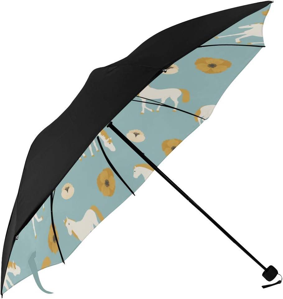 Compact Portable Umbrella Running Max 49% OFF Fashion Undersid Horse Freedom Healthy
