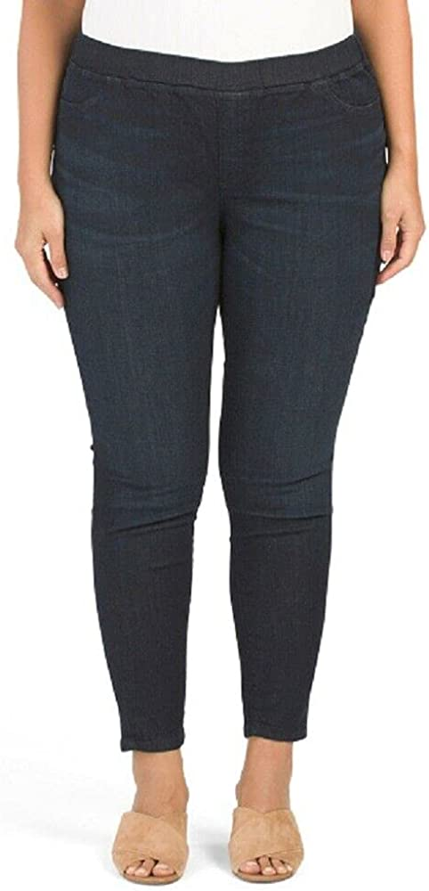 Eileen Fisher Plus Organic Cotton High Rise Soft Denim Jeggings in Utility Blue Size