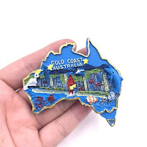 jiao Souvenir magnetici turistici creativi magneti frigo 3D Regali Souvenir turistici Goldcoast