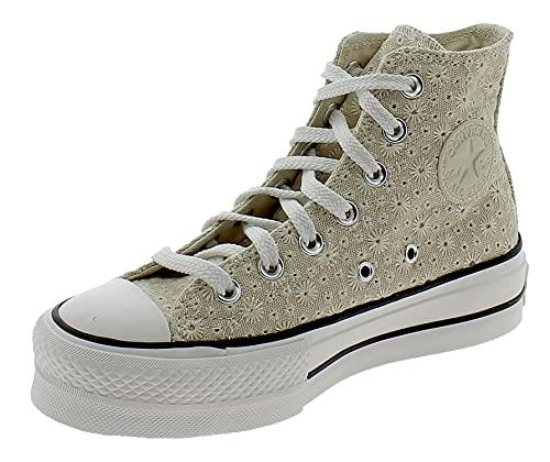 Converse Damen High Sneaker Chuck Taylor All Star Lift 571282C Creme, Groesse:38 EU