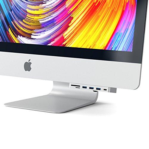SATECHI Aluminium Typ-C Klammer Hub Pro mit USB-C Datenanschluss, 3 USB 3.0 Anschlüssen, Micro/SD Kartenlesegerät - Kompatibel mit dem 2017 iMac und iMac Pro und neuere Modelle