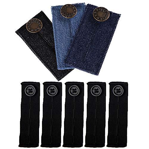 pequeño y compacto Pantalones elásticos ajustables, extensiones de cintura, pantalones
