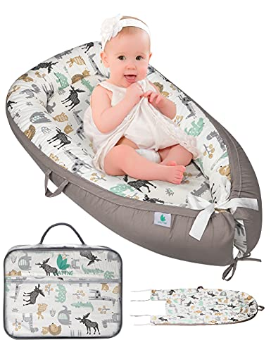 Wattne Baby Nest Pod to Promote Nourishing Sleep– Portable and Soft Baby Bed Lounger - Handmade, Breathable Newborn Cotton Crib