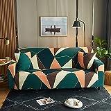 WXQY Funda de sofá con Estampado de Sala de Estar, Todo Incluido elástica Resistente al Desgaste, Estampado de Flores Azul Marino, Funda de sofá Antideslizante A5 de 2 plazas