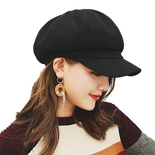 Luoistu Boina Señoras Gorra Plana con Visera Señoras Invierno Clásico Pintor Sombrero Moda cálida