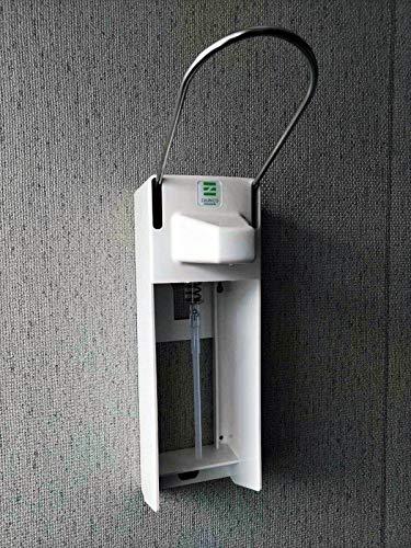Desinfektionsspender Seifenspender Spender für Desinfektionsmittel mit Hebel, Aluminium/Edelstahl, Weiß, 1L / 1000ml inkl. Montage-Set