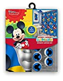 Disney Marvel New 13 Teile Set (Duschvorhang mit Haken) oder 14 Set (Dusche Vorhang Set mit Bad Memory Schaumstoff Matte) 13pcs Set - Shower Curtain Set Micky Maus