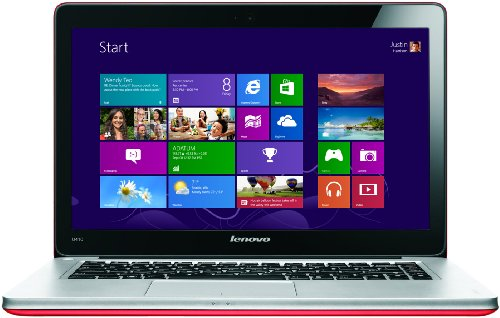 Lenovo Ideapad U410 14-inch Ultrabook - (Intel Core i3 3217U 1.8GHz Processor, 4GB RAM, 500GB HDD + 24 GB SSD, Windows 8) (Red)