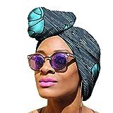 Yijinstyle Mujer Étnica Pañuelo en La Cabeza Bufanda Africano Headwrap de Elasticidad para Amigable con La Piel (Style#8, 50 * 150cm)