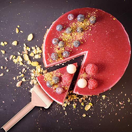Zenker 41217 Pelle 2 en 1 à tarte, pelle à tarte plastique, pelle 2en1 pour tarte, Plastique, Crème, Rose, Gris, Bleu, 27,5 x 7 cm