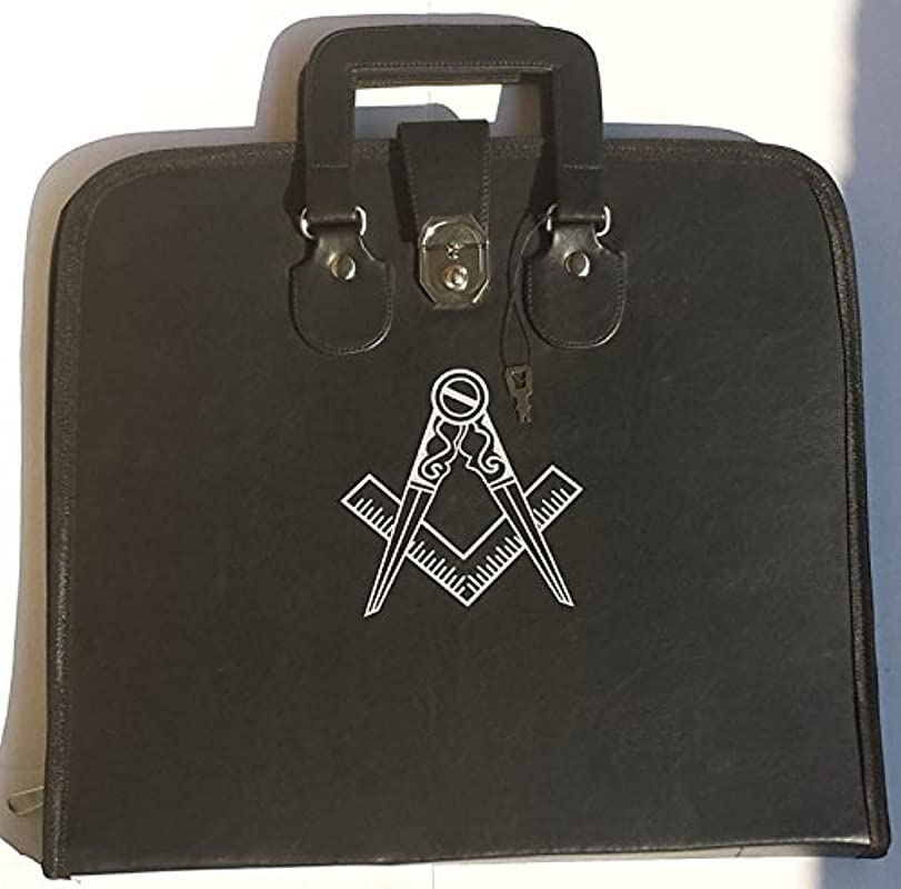 Zest4Canada Masonic Regalia Smart File Case For MM WM Apron With Soft Handle Square Compass