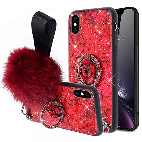 Lowest Prices! Herbests Compatible with iPhone X/iPhone XS Diamond Case Girls Women Luxury Marble Ca...