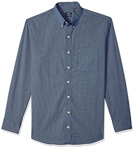 IZOD mens Big and Tall Long Sleeve Stretch Performance Check Button Down Shirt, Estate Blue Rp, XX-Large Big US