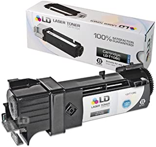 LD Compatible Toner to Replace Dell T106C High Yield Black Toner Cartridge for Your Dell 2130cn & 2135cn Color Laser Printers