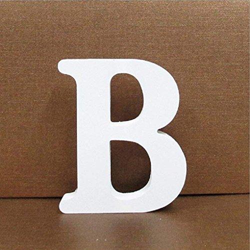 Gspirit Decorativo De Madera Letras, Pared Letras 26 Letras Madera Alfabeto para Niños Bebé Nombre Cumpleaños Fiesta Boda Casa Decoración (B)