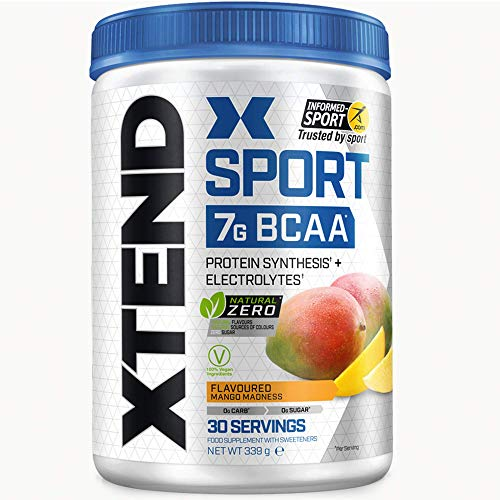 Xtend Sport Natural Zero, BCAA Powder, Mango 30 Servings