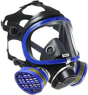 Dräger X-plore 5500 Full-Face Respirator Mask + 2x Gas Cartridge OV/AG/HF/FM/CD/AM/MA/HS | One size fits most | NIOSH Certified | Eye and Respiratory Protection, Anti-Fog, 180° View